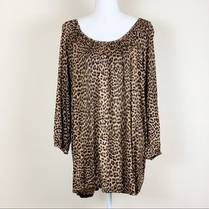 Michael Kors Leopard Blouse New With Tags (NWT)